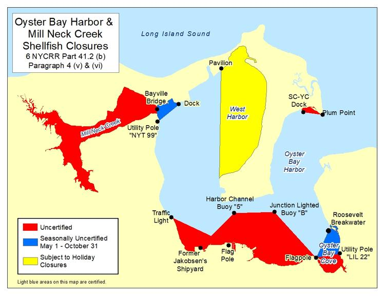 an image of Oyster Bay Harbor Shellfish Closures