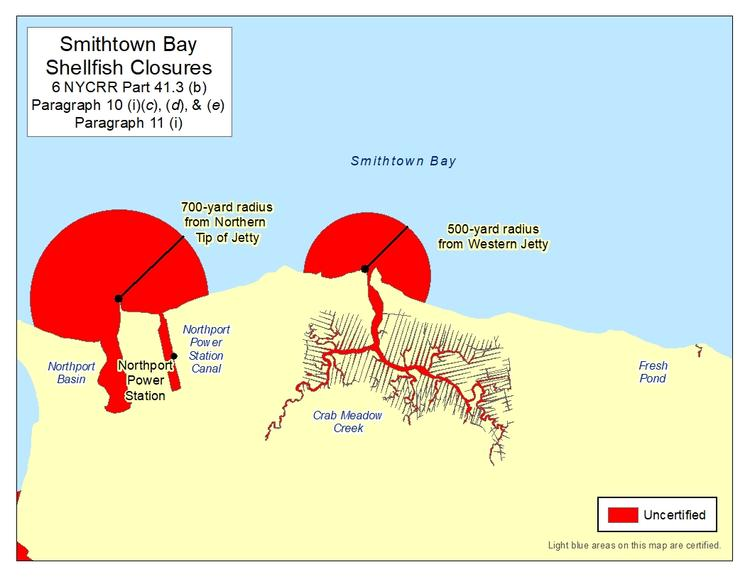 an image of Smithtown Bay Shellfish Closures