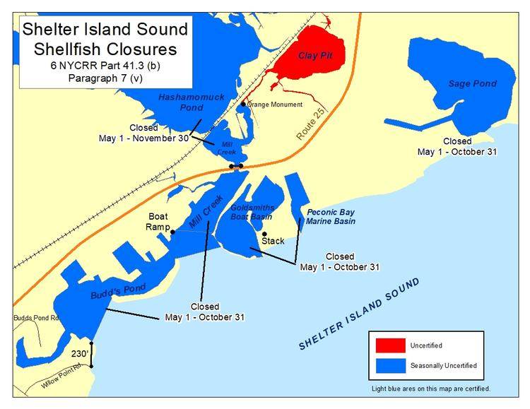 an image of Shelter Island Sound Shellfish Closures