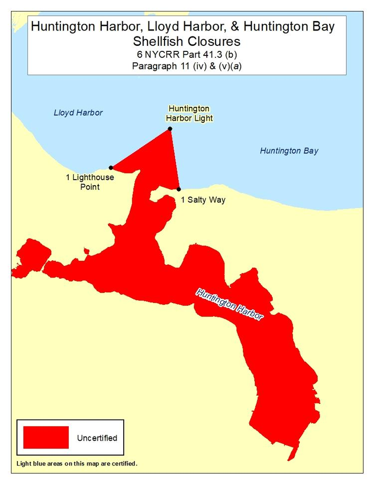an image of Huntington Harbor Shellfish Closures