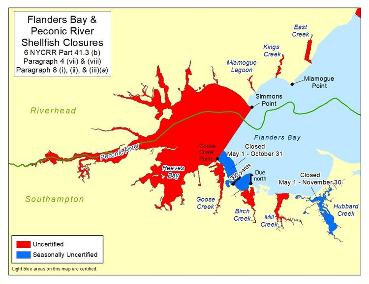 an image of Flanders Bay Shellfish Closures