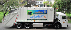 A hybrid electric garbage truck