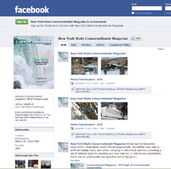A screenshot of Conservationist magazine's Facebook page