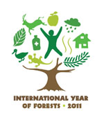 The tree symbol icon for the international year of forests
