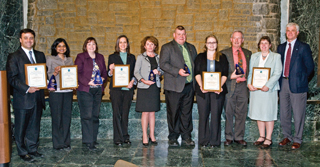 DEC Commissioner Joe Martens with the 2011 EEA winners