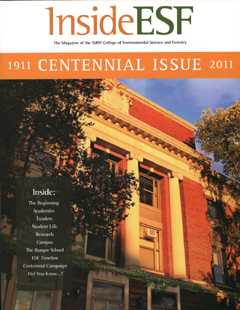 The cover of the centennial issue of the magazine of SUNY ESF