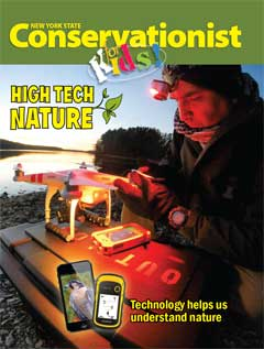 cover of Conservationist for Kids Winter 2015 High Tech Nature issue