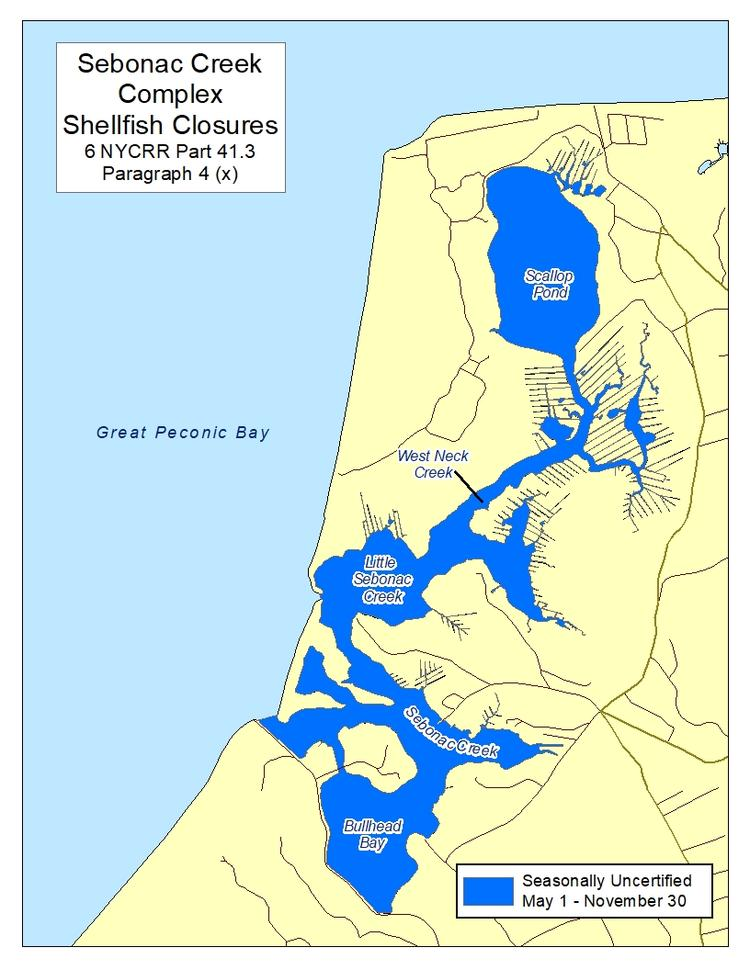 an image of Sebonac Creek Complex Shellfish Closures