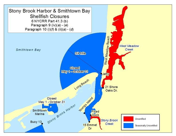 an image of Stony Brook Harbor Shellfish Closures