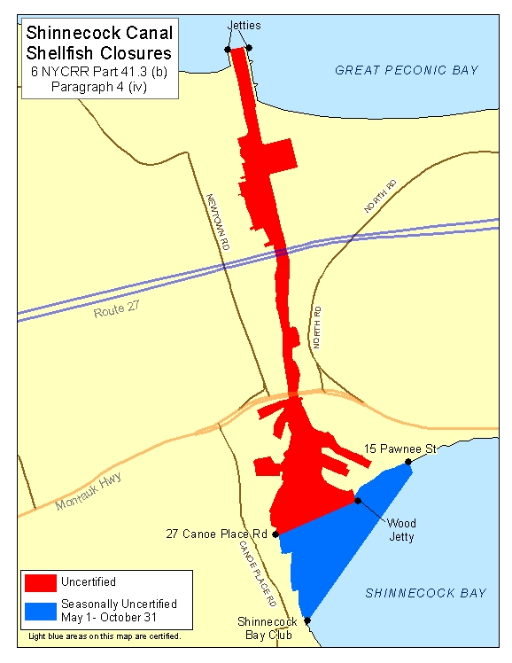an image of Shinnecock Canal Shellfish Closures