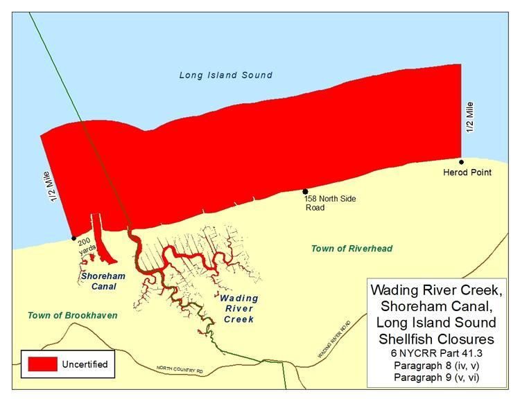 an image of Wading River Creek Shellfish Closures