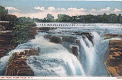 Souvenir postcard of waterfalls