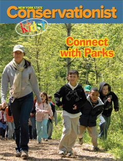 The Connect with Parks Conservationist for Kids cover shows students on a hike