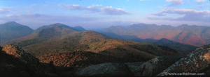 Panorama of the high peaks from a mountain top