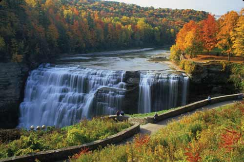 Letchworth State Park waterfalls