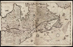A map of the northeastern states by Samuel Champlain