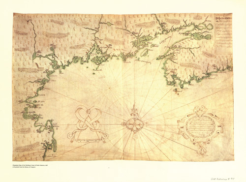 A map drawn by Samuel Champlain