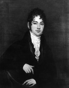 A portait of Robert Fulton as a young man