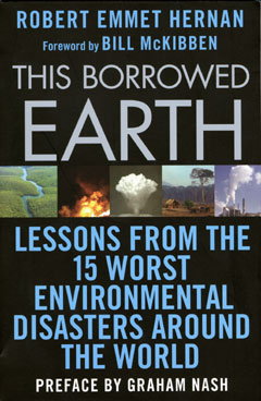 The cover of a book showing images of environmental disasters
