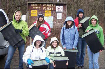 4-H group at Oakley Corners State Forest