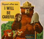 A Smokey the Bear fire prevention poster