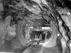 A large water supply tunnel under construction