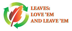 Leaf recycling logo with green circling arrows surrounding an orange leaf