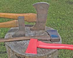 Axes are made in a variety of shapes and sizes