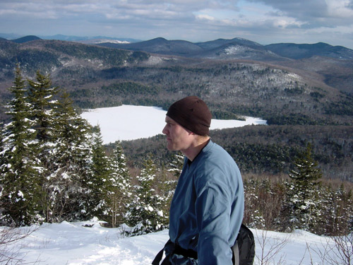 Author Jim Muller on the snowy slopes of Mount Blue