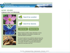 New York Nature Explorer web site home page