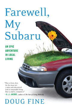 Cover of the book showing Subaru car with hood open and grass underneath