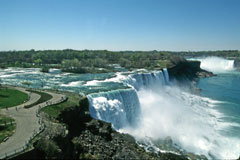 A view of American and Horseshoe Falls