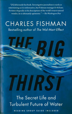 The cover of the book, The Big Thirst