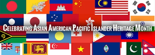 collage of flags of Asian and Pacific Island nations