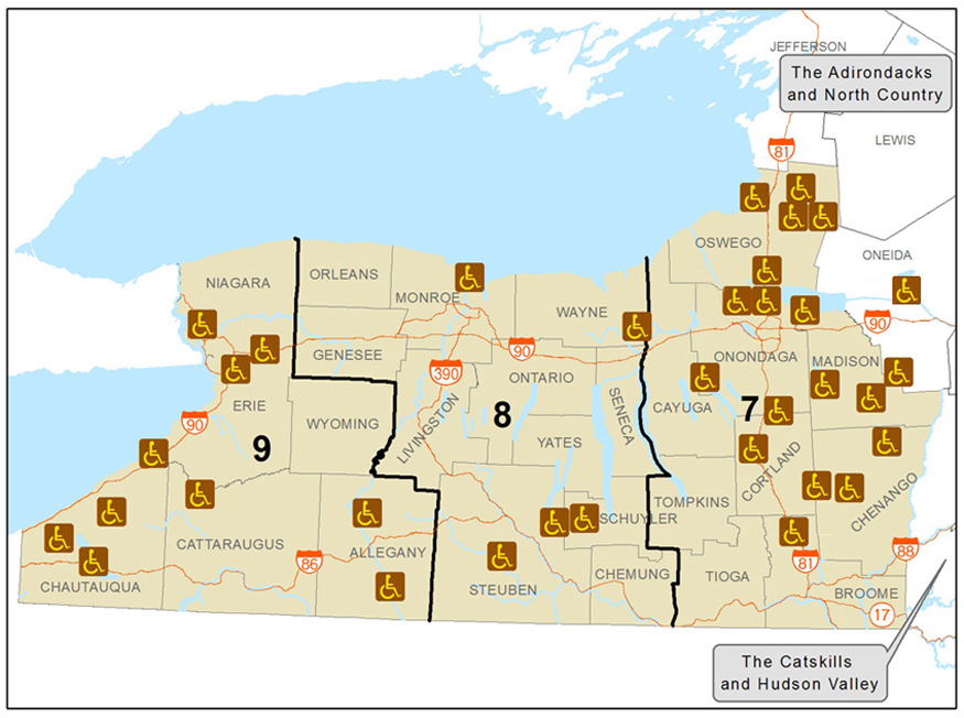 Finger Lakes and Western New York Accessible Recreation Map - NYS ...