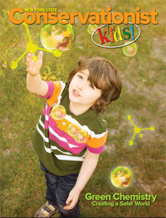 cover of Conservationist for Kids Fall 2015 Green Chemistry issue