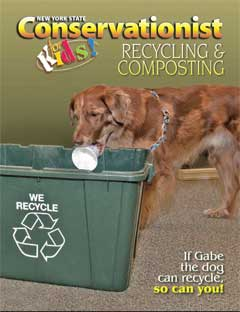 cover of Conservationist for Kids Fall 2014 Recycling and Composting issue