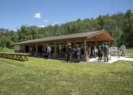 New Outdoor Pavillion at the Catskill Interpretive Center