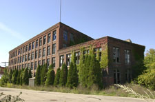 brownfield site showing an abandoned building