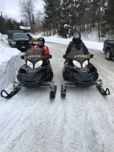 Two ECOs on patrol for the Indian Lake Fishing Derby