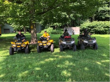 ECOs and local law enforcement on ATVs