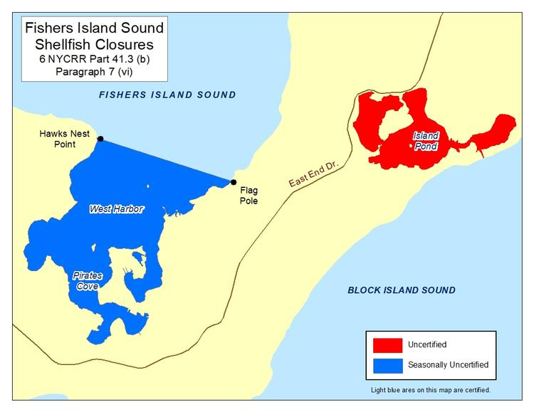 an image of Fishers Island Sound Shellfish Closures