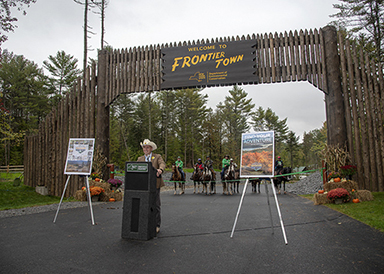 Frontier Town Campground, Equestrian and Day Use Area ribbon cutting