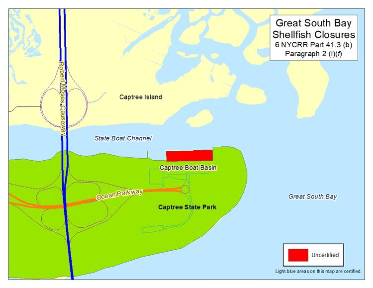 an image of Great South Bay Shellfish Closures