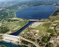 Aerial view of Niagara Power Project