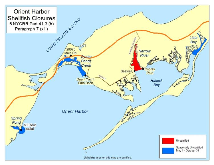 an image of Orient Harbor Shellfish Closures