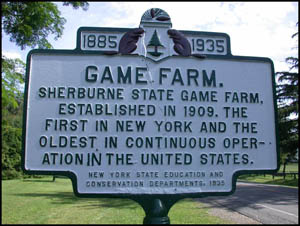game farm sign