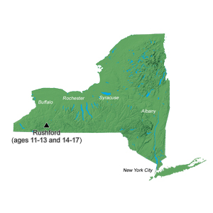 map of nys showing camp location
