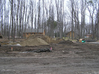 Photo of the building site when it is being cleared