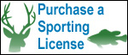 Purchase a sporting license icon with buck head and fish